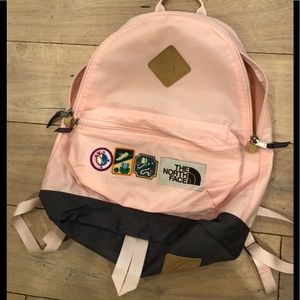 North-face pink back pack